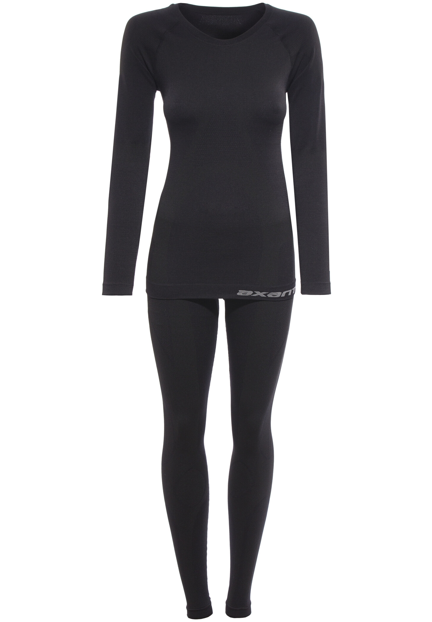Seamless Langt undertøj Damer, sort | base layer
