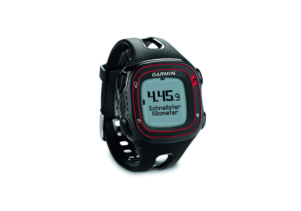 garmin forerunner 10 orologio multifunzione rosso nero. Black Bedroom Furniture Sets. Home Design Ideas