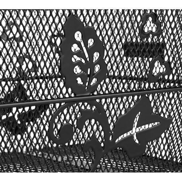 Basil Cento Flower Hinterradkorb engmaschig längs S schwarz