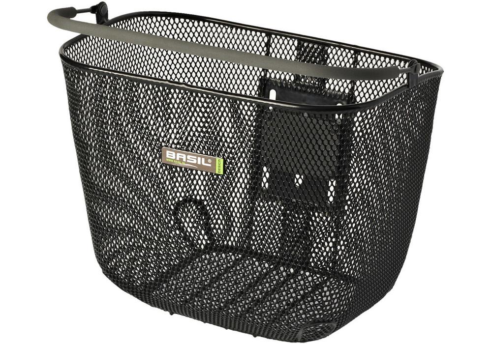 basil basimply ii vorderrad korb ohne halter engmaschig schwarz g nstig kaufen bei. Black Bedroom Furniture Sets. Home Design Ideas