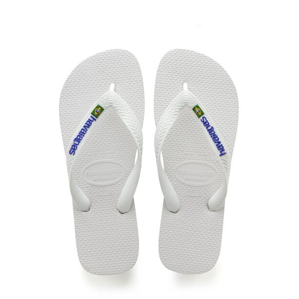 havaianas Brasil Logo sandaalit, valkoinen