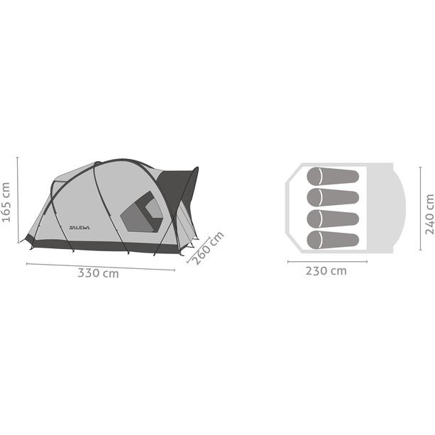 SALEWA Alpine Hut IV Zelt cactus/grey