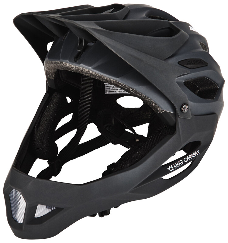 Alpina King Carapax Fullface Helmet black 57-62 cm 2018 Fahrradhelme