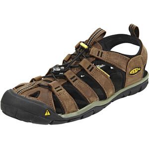 Keen Clearwater CNX Leather Sandalen Herren braun braun