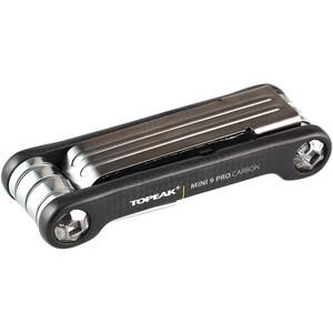 Topeak Mini 9 Pro Miniwerkzeug Carbon schwarz schwarz