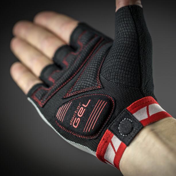 GripGrab WorldCup Gepolsterte Kurzfinger-Handschuhe red/white