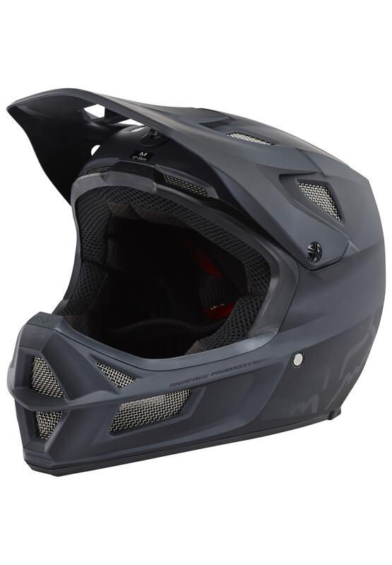 Fox Rampage Pro Carbon Helmet Men matte black 57-58 cm 2018 Fahrradhelme