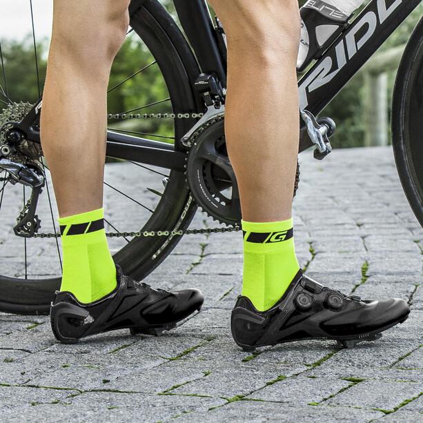 GripGrab Hi-Vis Regular Cut Socken fluo yellow