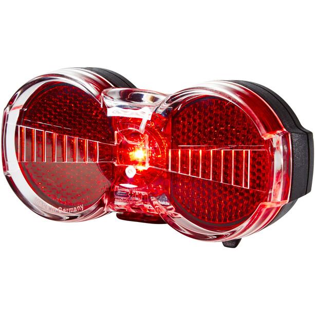 Busch + Müller Toplight Flat S Batterie-Rücklicht permanent schwarz/rot