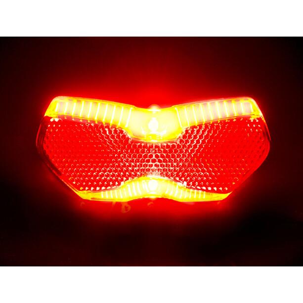 Busch + Müller Toplight View Brake Tec Sykkellys med bremselys rød/Transparent