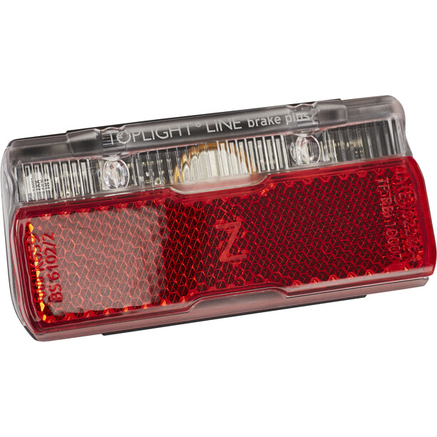 Busch + Müller Toplight Line + BrakeTec Bremslicht mit Standlicht 50mm schwarz/rot
