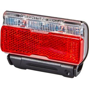 Busch + Müller Toplight Line Batterie-Rücklicht permanent 50mm schwarz/rot schwarz/rot