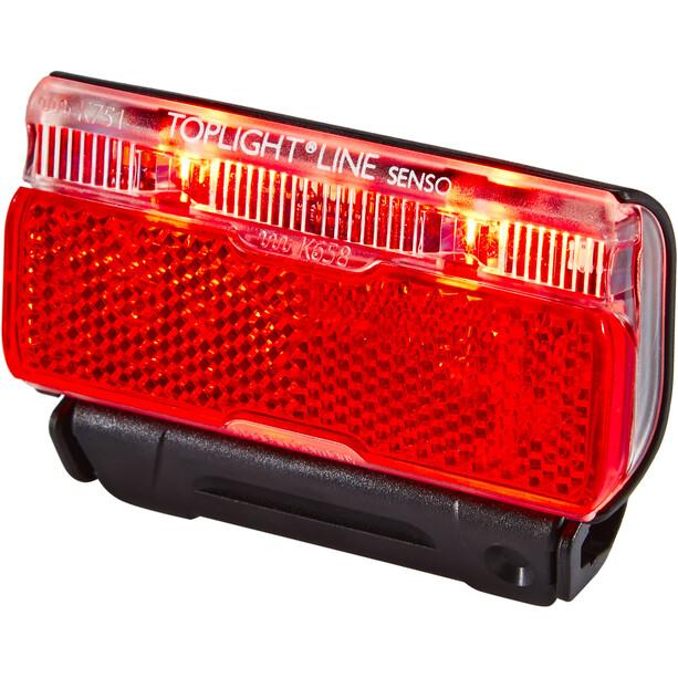 Busch + Müller Toplight Line Batterie-Rücklicht senso 50mm schwarz/rot
