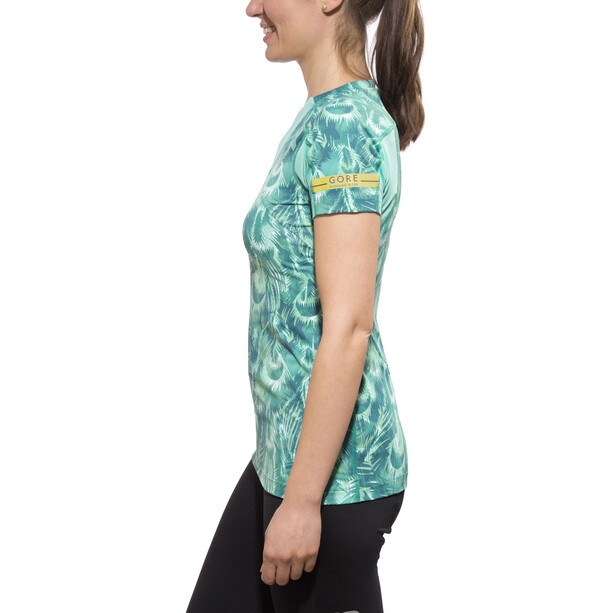 GORE RUNNING WEAR AIR PRINT Shirt Damen turquoise