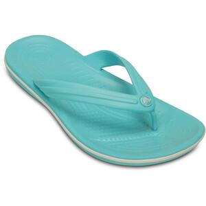 Crocs Crocband Flache Sandalen pool/white pool/white