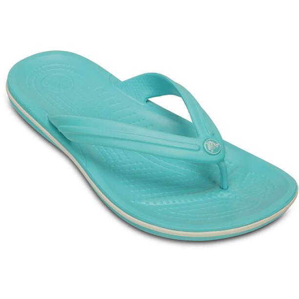 Crocs Crocband Flache Sandalen pool/white