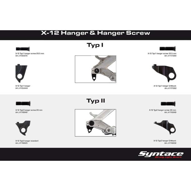 Syntace X-12 Schaltaugenschraube Derailleur Hanger Screw Typ 2 Standard/Direct Mount raceblack