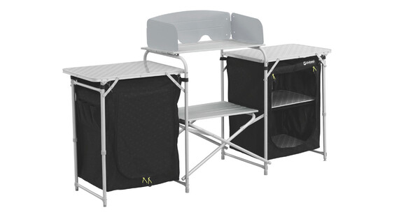 Outwell camrose armario camping gris negro for Armario plegable camping