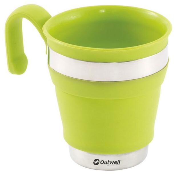 Outwell Collaps Becher grün/weiß
