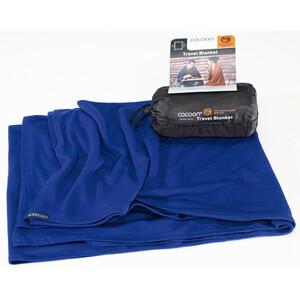 Cocoon Travel Blanket Merinovilla/silkki, sininen sininen