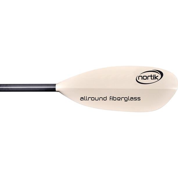 nortik Allround Fiberglass Paddel 220cm 2-teilig weiß/schwarz