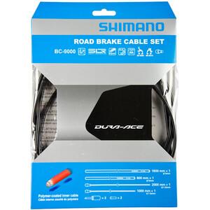 Shimano Dura-Ace BC-9000 Bremsekabel belagt med polyemer, sort sort
