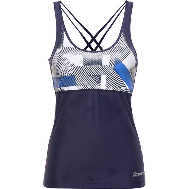 Skins A200 Toppi Naiset, sininen/valkoinen