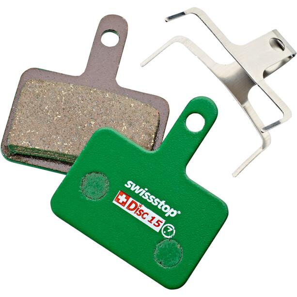 SwissStop Disc 15 Organic Brake Pads Shimano/Quad/Tektro/TRP grön