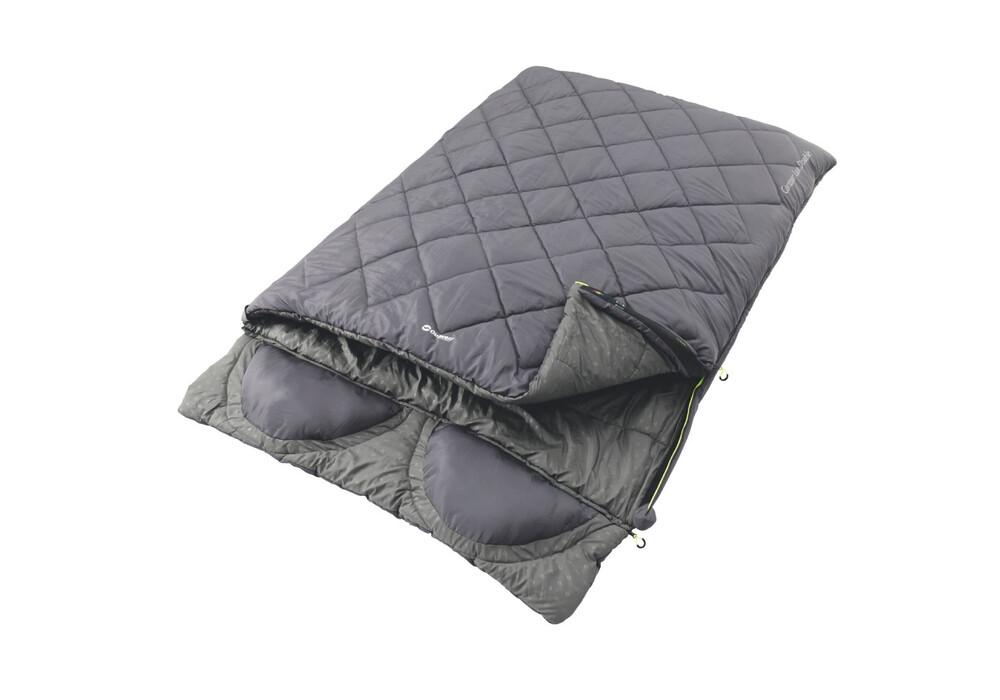 outwell contour lux double sac de couchage gris sur. Black Bedroom Furniture Sets. Home Design Ideas