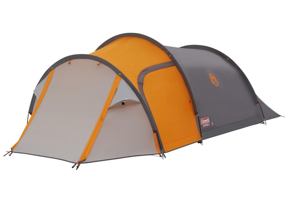 coleman cortes 3 tente 3 personnes gris orange sur. Black Bedroom Furniture Sets. Home Design Ideas