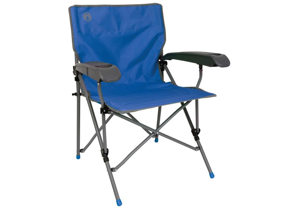 coleman ver tech chaise de camping pliante bleu sur. Black Bedroom Furniture Sets. Home Design Ideas