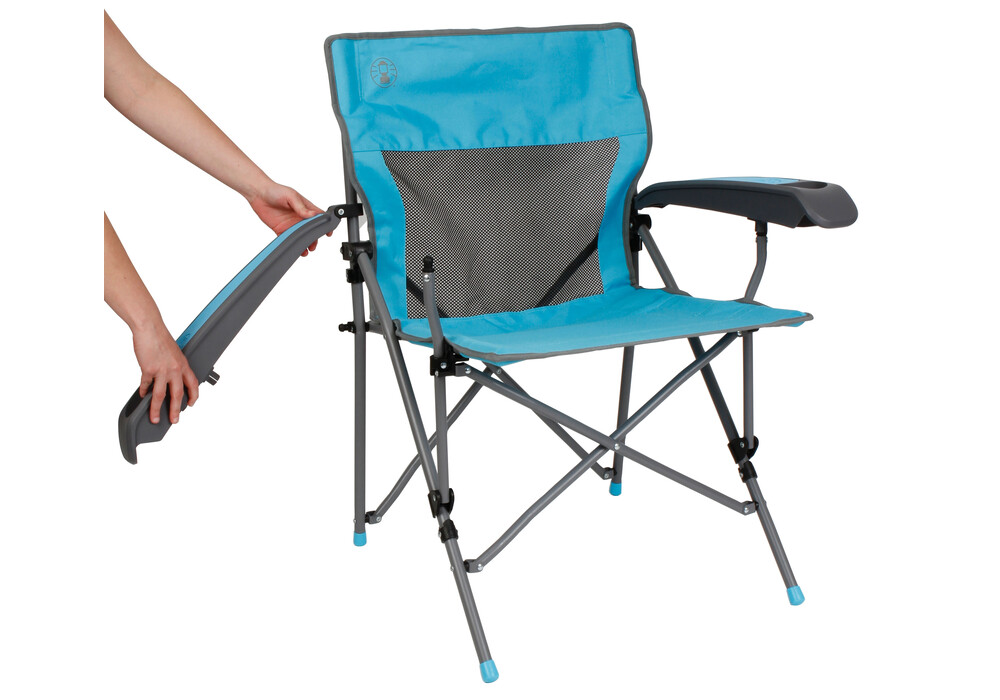 Coleman ver tech plus chaise de camping bleu sur campz for Chaise de camping