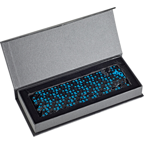 KMC X11 SL DLC Super Light Kette 11-fach schwarz/blau