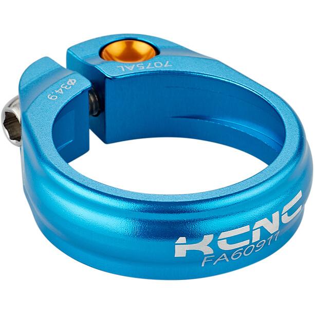KCNC Road Pro Saddle Clamp Ø34,9mm, bleu