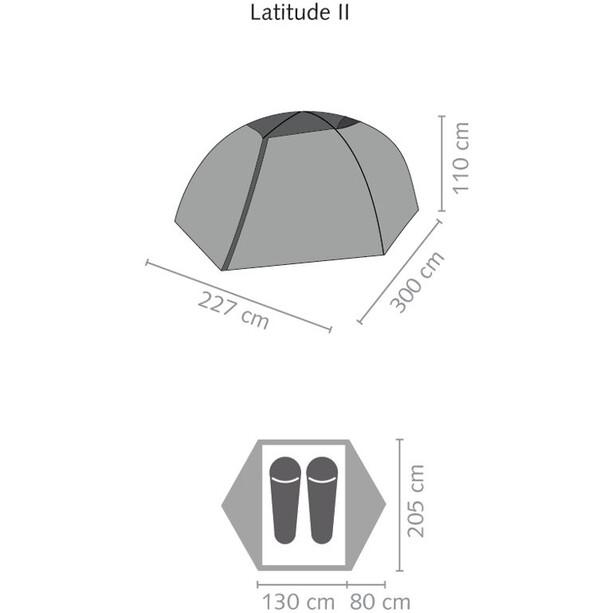 SALEWA Latitude II Zelt cactus/grey