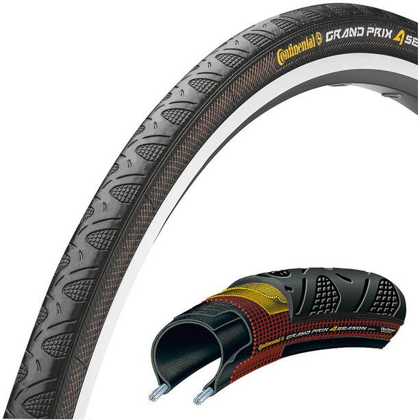 "Continental Grand Prix 4-Seasons Folding Tyre 28"", noir"