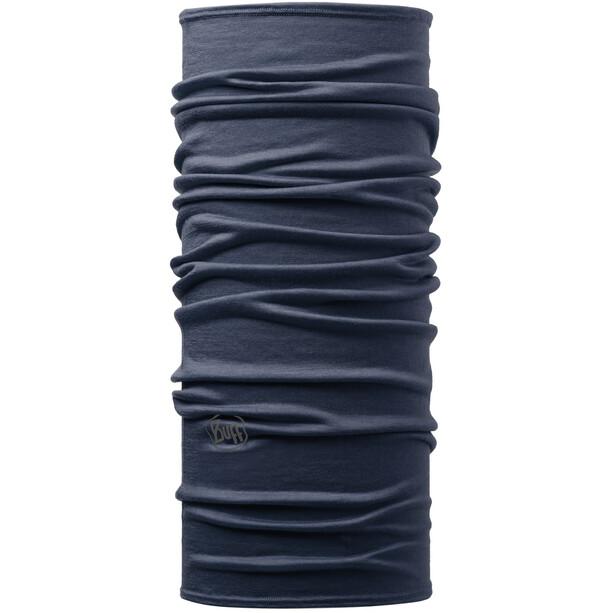 Buff Lightweight Merino Wool Neck Tube solid denim
