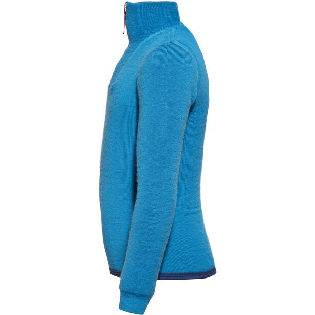 Woolpower 200 Zip Rollkragen Kinder dolphin blue