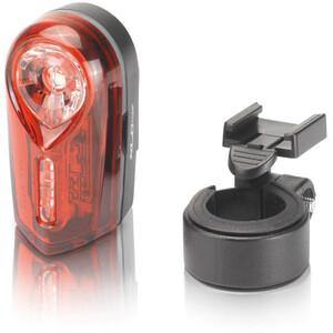 XLC Comp CL-R15 Veiligheidslamp Nesso, zwart/rood zwart/rood