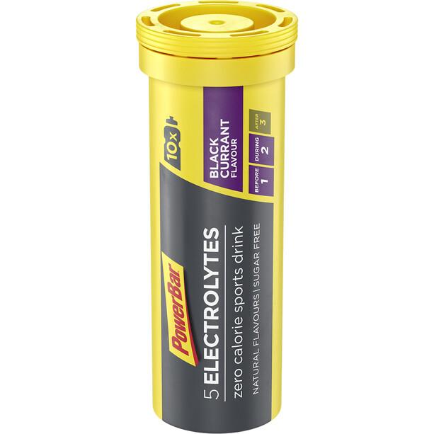 PowerBar 5 Electrolytes Zero Calorie Sports Drink Tabs 10 Stück Schwarze Johannisbeere