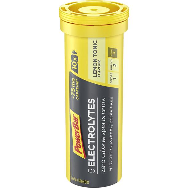PowerBar 5 Electrolytes Zero Calorie Sports Drink Tabs 10 Stück Lemon Tonic mit Koffein