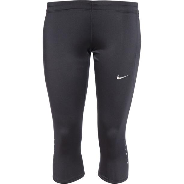 Nike Tech Capri Damen black/reflecive silver