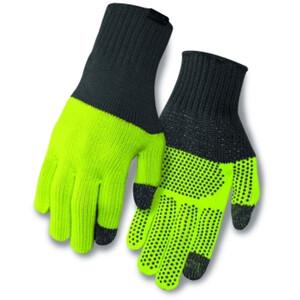 Giro Merino Wool Gants, grey/wild lime grey/wild lime