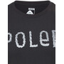 POLER Furry Font Kurzarmshirt Herren black