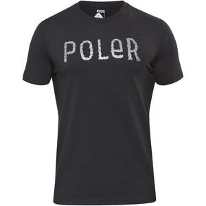 POLER Furry Font Kurzarmshirt Herren black black