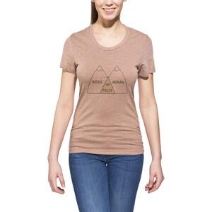 POLER Venn T-Shirt Damen brown heather brown heather
