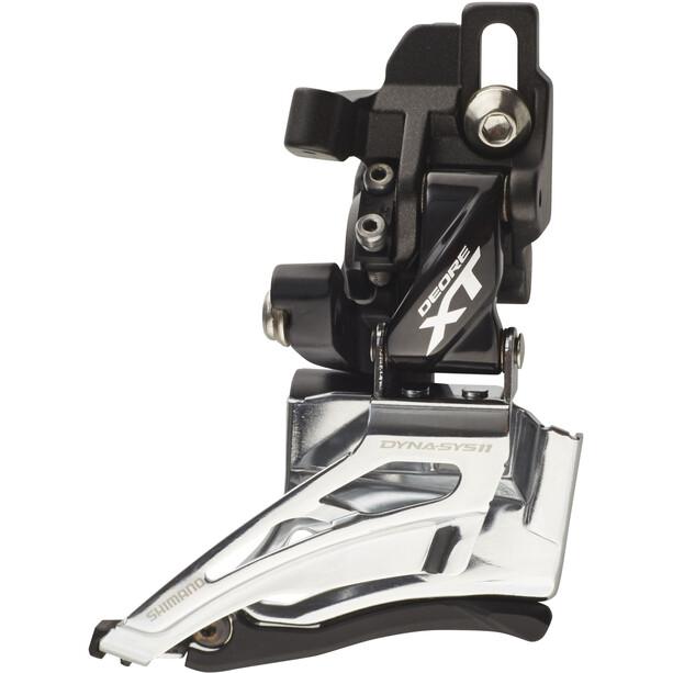 Shimano Deore XT FD-M8025 Etuvaihtaja 2x11-vaihteinen suora-asennus Dual Pull, black/silver