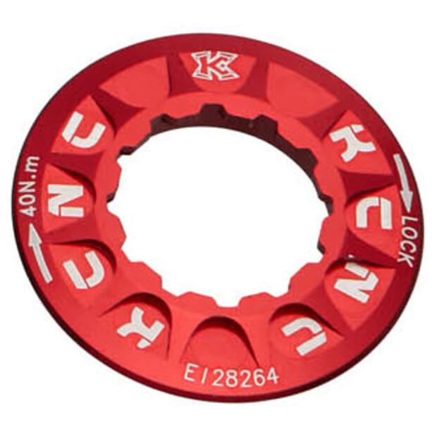 KCNC Verschlussring für Bremsscheibe Shimano Centerlock red