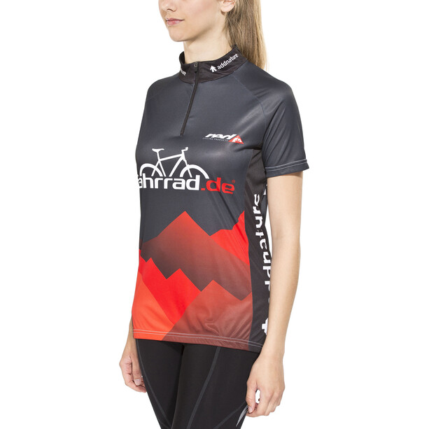 fahrrad.de Basic Team Trikot Damen schwarz/rot