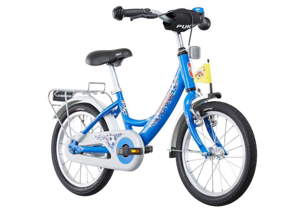 puky zl 16 1 kinderfahrrad 16 alu fu ball blau g nstig. Black Bedroom Furniture Sets. Home Design Ideas